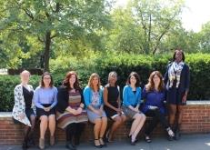 Caroline Kaufman, Kristina Decker, Robin Hardin, Courtney Maclin, Rebecca Kamody, Dr. Mollie Anderson, & Dr. Idia Thurston