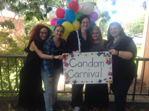 CHANGE Lab members helping facilitate Mollie Anderson's Condom Carnival intervention