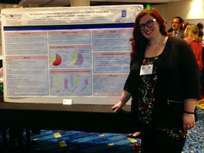 Kristina Decker presenting her poster at SPPAC 2016