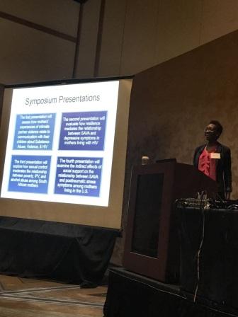 Dr. Idia Thurston presenting at SBM 2017