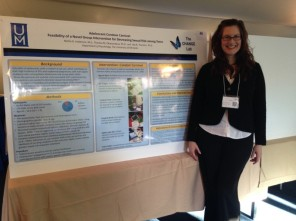 Mollie Anderson presenting her poster at SPPAC 2015