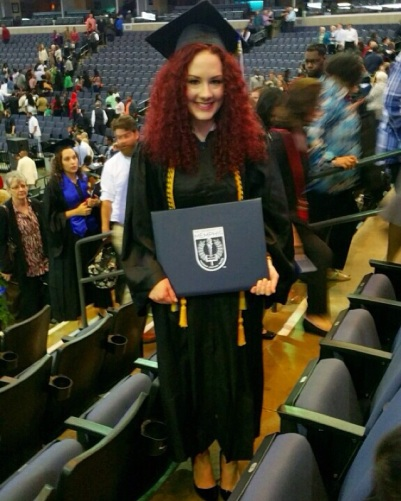 Jaimie Padden at commencement