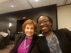 Dr. Idia Thurston and Dr. Florence Denmark at AWP